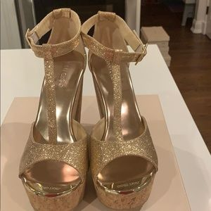 NWT Authentic Jimmy Choo Glitter Pela Wedge